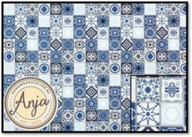 DIY787A Blue Mediterranean Tiles