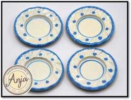 DA109 Blauw-wit borden per vier