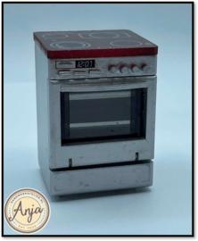 DF1001 Fornuis zilverkleurig