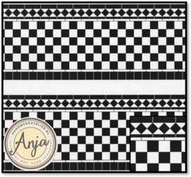 DIY048A Wall Tiles Card Black & White