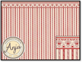 PP118A Regency Stripe Burgundy 1:24