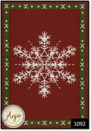 1092 Snowflake Christmas Rug