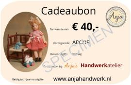 Cadeaubon € 40,00 pdf