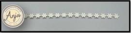 Bloemen band ivoor B0719-2