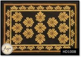 HD1008 Borduurpakket Vloerkleed Lelie zwart