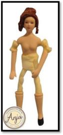DP153 Vrouw ongekleed buigbaar