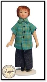 DP126 Poppenhuis popje jongetje in jeans