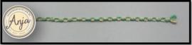 Band groen / goud  B0719-18