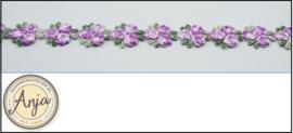 Paars bloemenband  B0320-1
