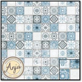 DIY787B Antique Azure Mediterranean Tiles