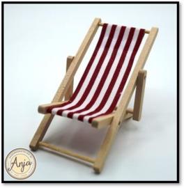 Strandstoel inklapbaar rood