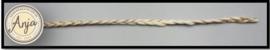 Gevlochten band Ivoor / goud  B0719-31