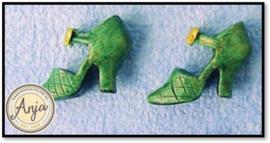 D1033D Groene schoenen