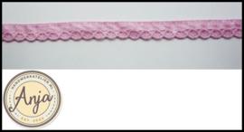 Kloskant roze met roze lint  kt0719-1