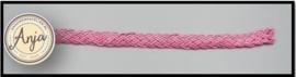 Gevlochten band donker roze B0719-8
