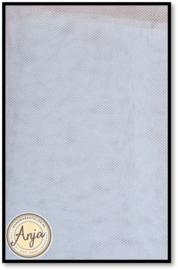 TKG0420-1 Fijne sluier tule wit