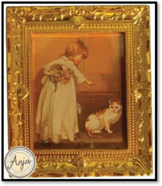 D1255 Schilderij met goudkleurige lijst