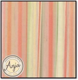 GG1020-07A Gestreept, geel, blauw, roze groene tinten