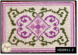 HD0911-2 kleedje Crocus op monogaas