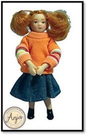 DP098  Meisje met oranje sweater