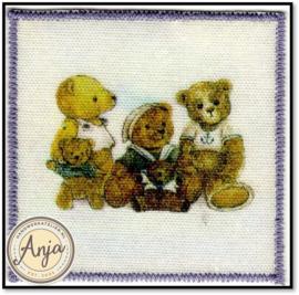 Wandkleed drie beertjes