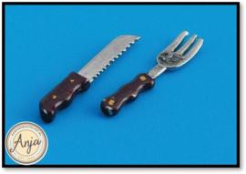 D1831 - Steakmes en vork