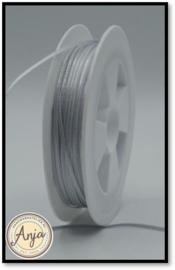 316 Silver Grey Satijn lint 1.5 mm