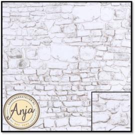 DIY797C Whitewashed Stone Wall