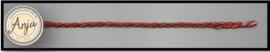 Gevlochten band rood / goud  B0719-30