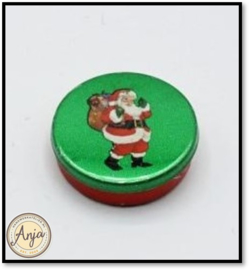 B70823 Kersttrommel met groen deksel