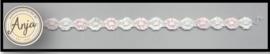 Bloemen band roze-wit B0719-26