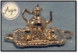 D498 Koffieset, 4-delig zilver