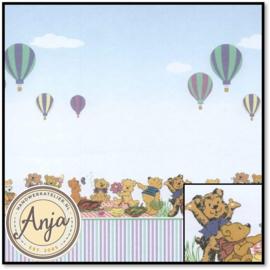 WP538 Teddy Picnic Bears & Balloons