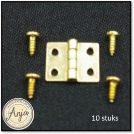 DIY346 Scharnieren 8 x 11 mm per tien