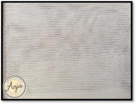 AH016 tule gebroken wit grof