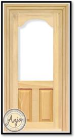 DIY063 Deur met raam, blankhout