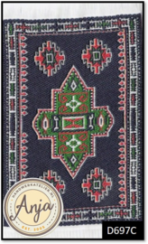 D697C Turkish Carpet Dark Blue