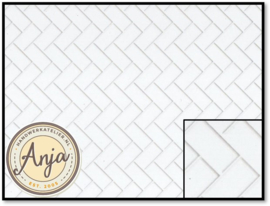 DIY791A White Herringbone Metro Tiles