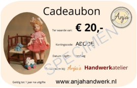 Cadeaubon € 20,00 pdf