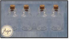 D2387 Vier flessen met stop