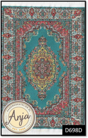 D698D Turkish Carpet Turq