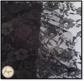 TKG2819-16 Zwart fijn kant