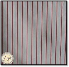 HWA27 Wit met rood streepje