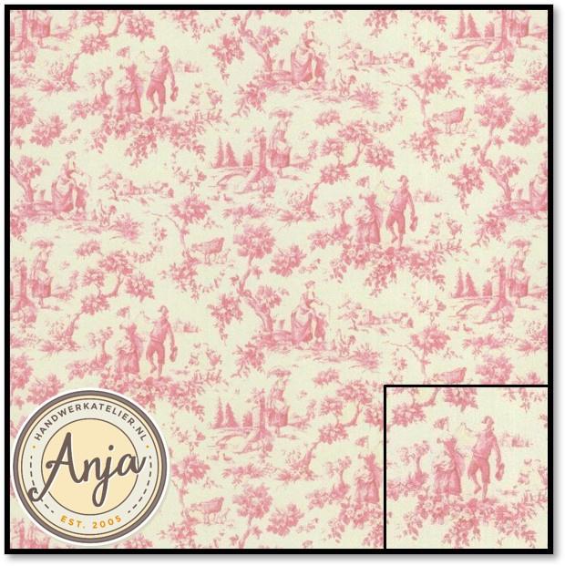 PP225 Toile De Jouy Pink