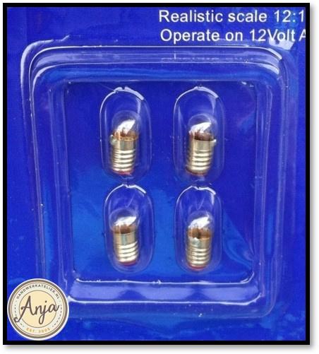 DE024 Bollampjes met schroefdraad