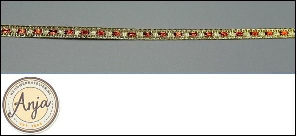 Goud-rood geweven lint L0320-1