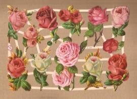 Nostalgische roze Rozen poezieplaatjes 7362