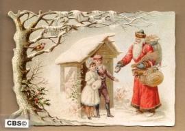 Nostalgisch Kersttafereel in sneeuw poezieplaatjes 5123