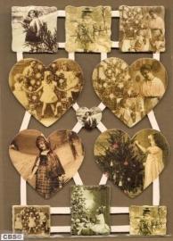 Nostalgische We vieren kerst! poëzieplaatjes