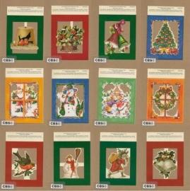 *Poezieplaatjes 12 Feestelijke Kerstplaatjes met relief